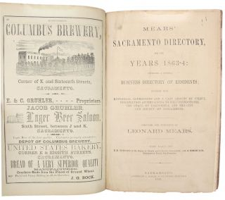 Mears' Sacramento Directory, for the Years 1863-4: embracing a general business directory of residents