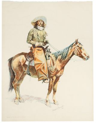 Arizona Cowboy. Frederic REMINGTON