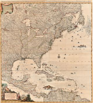 A Map of the British Empire in America with the French, Spanish and the Dutch Settlements adjacent thereto. Henry POPPLE, Johannes Covens, publishers Cornelius Mortier.