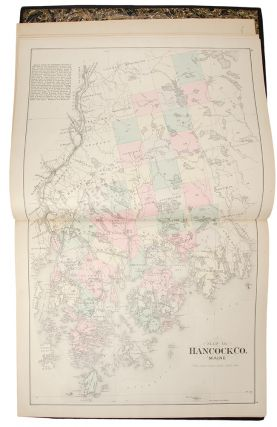 Atlas of Hancock County Maine Compiled and Published under the direction of Geo. N. Colby ... Drawn from official Plans, U.S. Coast Survey Charts, and actual Surveys by H. E. Halfpenny & J. H. Stuart