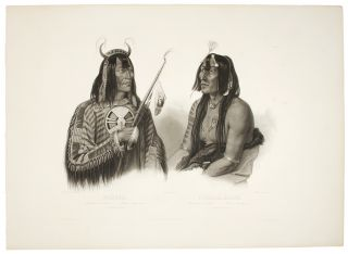 Noápeh, An Assiniboin Indian; Psíhdjä-Sáhpa, A Yanktonan Indian. Karl BODMER