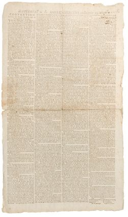 Supplement to the American Mercury: -- December 25, 1800. Convention Between the French Republic...