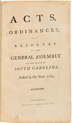 Acts, Ordinances and Resolves of the General Assembly of the State of South Carolina, Passed in...