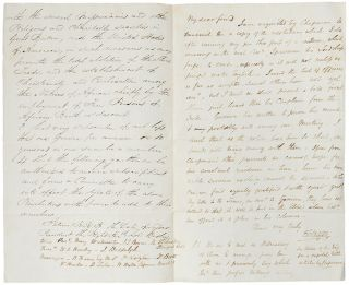 Autograph letter signed to Member of Parliament Benjamin Hawes, sending him the proposed...