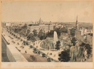 New York City Hall, Park and Environs. After JOHN BACHMANN