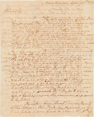 Autograph letter signed, from George Washington to Burwell Bassett, offering condolences on the...
