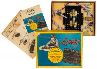 "Lectrokit ""A"" [An electrical circuit playset for children, in the original box]. DE VEL INDUSTRIES"