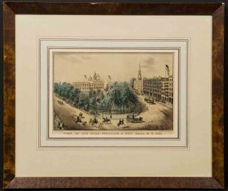 View of the Park, Fountain & City Hall, N.Y. NATHANIEL CURRIER.