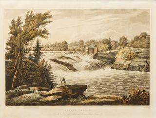 Baker's Falls No. 8 of the Hudson River Port Folio. John HILL, William Guy WALL, engraver