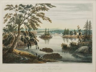 View Near Fort Miller. No. 10 of the Hudson River Port Folio (later No. 9). John HILL, William...