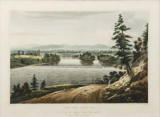 View Near Sandy Hill. No. 7 of the Hudson River Port Folio. John HILL, William Guy WALL, engraver.