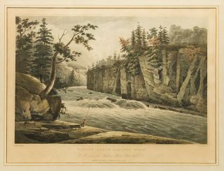 Rapids Above Hadley's Falls. No. 4 of the Hudson River Port Folio. John HILL, William Guy WALL,...