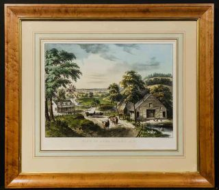 View on Long Island. N. Y. CURRIER, IVES pub
