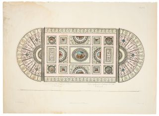 Design of the Ceiling of the Library or Great Room at Kenwood. After Robert ADAM