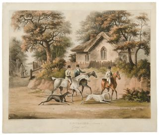 [Set of Four] Coursing. Plate I. Going out.; Plate II. Finding; Plate III. The Hare's Last...