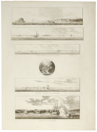 A group of six views near Halifax printed on a single plate] `A View of Cape Egmont and Winter...