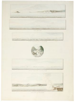 A group of six views printed on a single plate] `A View of Cape Egmont and Winter Rock from the...