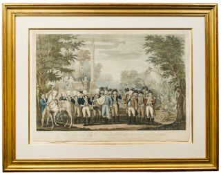 Defeat at Yorktown. The British Surrendering their arms to Gen. Washington after their Defeat at...
