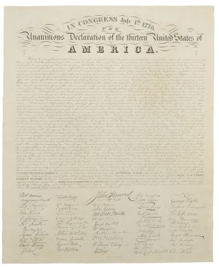 In Congress, July 4, 1776. The Unanimous Declaration of the Thirteen United States of America....