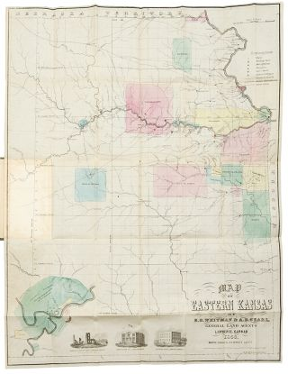 Map of Eastern Kansas. E. B. KANSAS - WHITMAN, A. D. SEARL.
