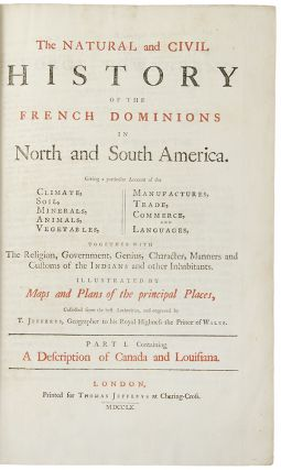 The Natural and Civil History of the French Dominions in North and South America