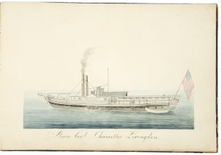[Album of watercolor of views of American cities, landscapes or ships]