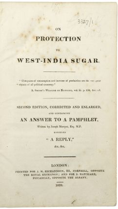 Sammelband of 4 pamphlets relating to the sugar trade]. WEST INDIES