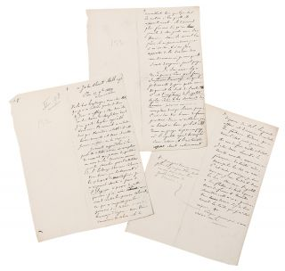 [Four manuscript letters from Tocqueville to John Stuart Mill (3) and Henry Reeve (1), written in the hand of Gustave de Beaumont evidently in preparation for his edition of Tocqueville's Oeuvres]