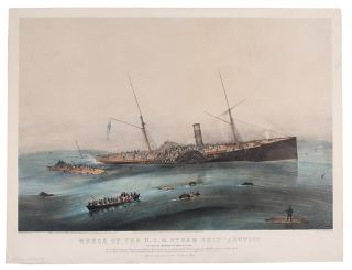 "Wreck of the U.S. Steam Ship ""Arctic"". Off Cape Race Wednesday September 27th. 1854. After James..."