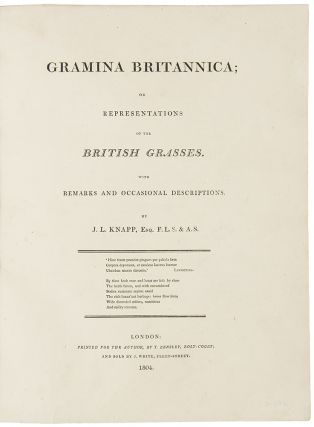 Gramina Britannica; or representations of British Grasses