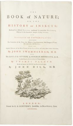 The Book of Nature or the History of Insects