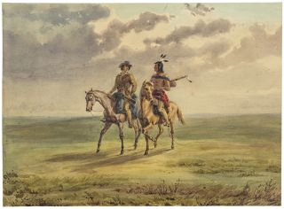 [Three original drawings from his 1846-1852 travels in the American West]