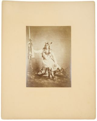 Group of 5 mounted albumen photographs of Native Americans, each being a chief or warrior of the Dakota Sioux