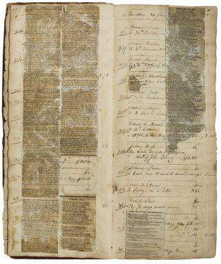 Manuscript accounts ledger relating to a Kingston papermill