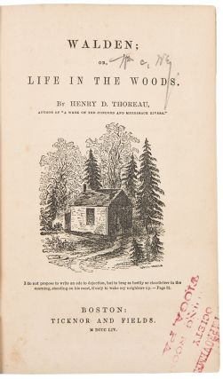 Walden; or Life in the Woods. Henry David THOREAU