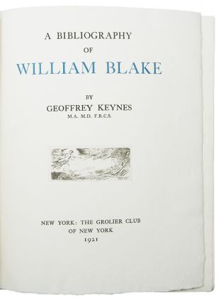 A Bibliography of William Blake