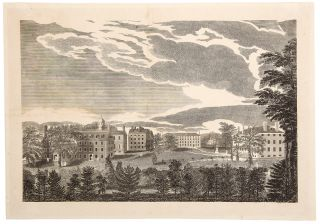 South View of the Several Halls of Harvard College]. Alvan FISHER, after