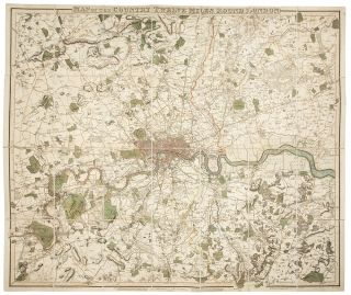 Map of the Country Twelve Miles Round London. W. R. GARDNER