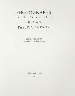 Photographs from the Collection of the Gilman Paper Company