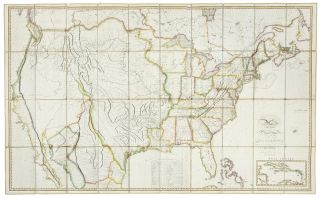 Map of the United States with the contiguous British and Spanish Possessions Compiled from the latest and best authorities by John Melish engraved by J. Vallance & H. S. Tanner. John MELISH.