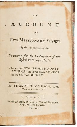 An Account of Two Missionary Voyages By the Appointment of the Society for the Propagation of the...