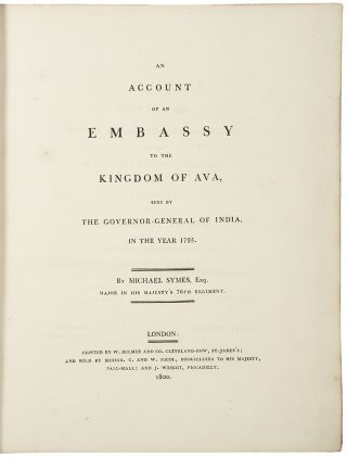 An Account of an Embassy to the Kingdom of Ava