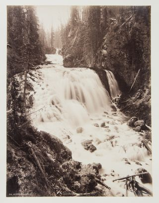 Group of 7 mounted albumen photographs of Yellowstone]. William Henry JACKSON