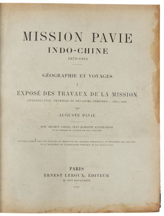 Mission Pavie Indo-Chine 1879-1895