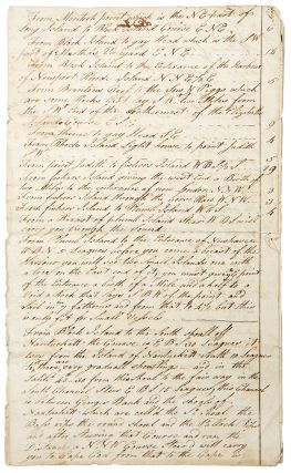 Manuscript sailing directions from Long Island to Nova Scotia, with separate remarks on Rhode...