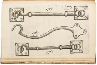 [Early English trade catalogue of brass furniture hardware designs]