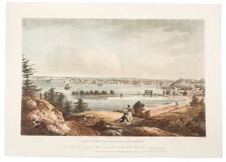 New York From The Heights Near Brooklyn. John HILL, after William Guy WALL, 1792-after 1864