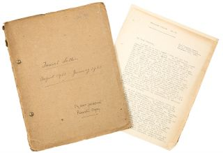 [Typescript of letters sent home from a missionary voyage to India]