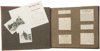 Album of newspaper clippings, photographs, and ephemera related to the Kent Motor Club]. KENT...