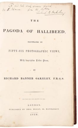 The Pagoda of Hallibeed, illustrated by fifty-six photographic views, with descriptive letter-press